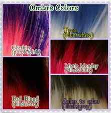 5 Color Hand-Dyed Ombre Pack 1oz Hanks Nylon Doll Hair for Rerooting Doll Scale