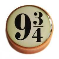Harry Potter Platform 9 3/4 Wooden Saddle Ear Flesh Plug Tunnels 8mm -25mm