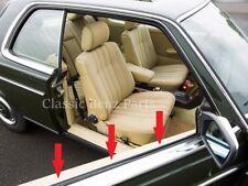 Mercedes W123 C123 Coupe Door Window Seal Belts - Outer Window Scraper Brushes
