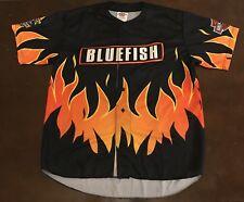 Rare Vintage Bridgeport Bluefish Harley Davidson Game Worn Baseball Jersey