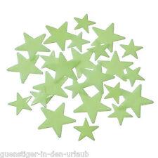 120 Aufkleber fluoreszierend leuchtende Sterne leuchten im Dunkeln Wanddeko Deko