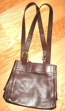 BROWN LEATHER AUTHENTIC COACH SHOULDERBAG PREOWNED PERFECT CONDITION