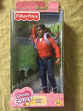 New FISHER PRICE LOVING FAMILY   African American Dad & Baby Figures