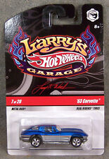 HOT WHEELS ~ LARRY'S GARAGE ~ 1963 CORVETTE ~ BLUE
