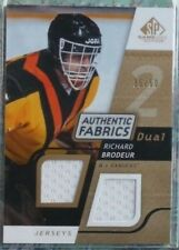 Richard Brodeur 2008-09 SP Game Used Authentic Fabrics Dual Jersey GOLD /50