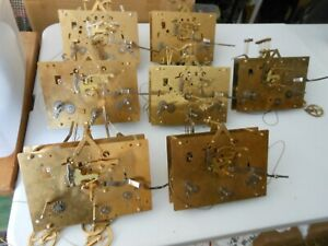 Vintage Hermle Grandfather clock movements lot of 7