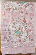 "New Sanrio Little Twin Satrs Hand Towel in Pink Made in Japan 13"" x 28"""