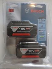 BOSCH BAT620-2 18V 18 Volt Lithium Ion 4.0 AH Battery Packs New In Package