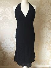 NEXT LADIES BLACK SPOTTY HALTER NECK DRESS SIZE 8 BNWT NEW
