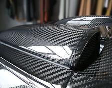 Car Stickers 5D Ultra Gloss Glossy Black Carbon Fiber Vinyl Wrap 12