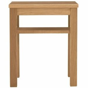 New MUJI White Oak Side Table, Wooden Stool Bench14x14x17in, Japan FS