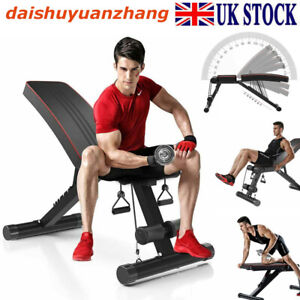 Foldable Dumbbell Bench Weight Training Fitness 7 Incline Adjustable Workout Gym
