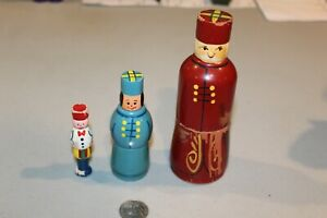 VTG Hand Painted Russian Nesting Dolls Family Father Mother Cello Violin Old