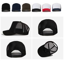 Unisex Mens Womens Plain Blank Solid Color Summer Mesh Baseball Cap Trucker Hats