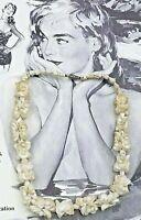 COLLIER DE VAHINÉ VINTAGE FLEURS EN COQUILLAGES NATURELS Genuine shell necklace