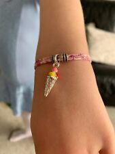 child's liberty print bracelet with charm