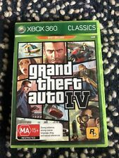 Grand Theft Auto IV (Microsoft Xbox 360, 2008) With Guidebook And Map. PAL