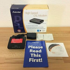 Actiontec GT701D high speed DSL modem with A/C adapter and Ethernet Cable