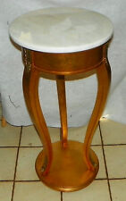 Mahogany Gold Painted Marble Top Plant Stand by Weiman (Rp-Ps75)