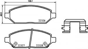 BREMBO (P 59 088) Bremsbeläge, Bremsklötze vorne für OPEL