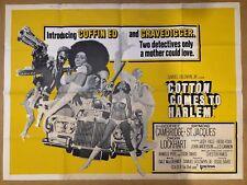 Cotton comes to Harlem -Original British Quad Cinema Movie Poster,Blaxploitation