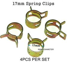 4pcs 17mm Steel Band Scooter ATV Fuel Line Hose Tubing Spring Clips Clamps