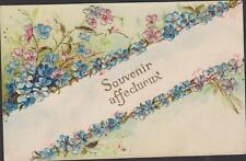CARTE POSTALE ANCIENNE FANTAISIE - Gauffrée (en relief) - SOUVENIR AFFECTUEUX/