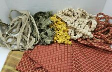 Tassel Piping Cord Braided Trimming Upholstery Pillow Drapery Textile Linen Lot