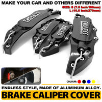 Metal BK ENDLESS Style 4Pcs Front & Rear Universal Disc Brake Caliper Cover L+S