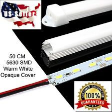 .5m 5630 SMD Warm White Aluminum LED Strip Light Opaque Cover Under Cabinet 12V