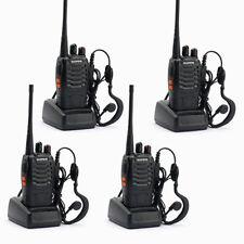 4x BAOFENG BF-888S UHF 400-470MHz 5W 16CH Ham Two Way Radio Walkie/Talkie US