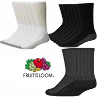 Fruit Of The Loom Mens Work Sports Heavy Duty Cushioned Boot Thick socks Lot