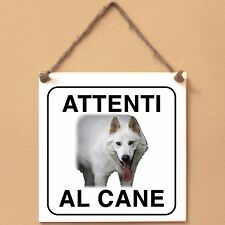 Northern Inuit 2 Attenti al cane Targa cane cartello ceramic tiles