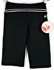 NEW Lime Apple Sport Hatha Capri Pants Girls Size 8 Black