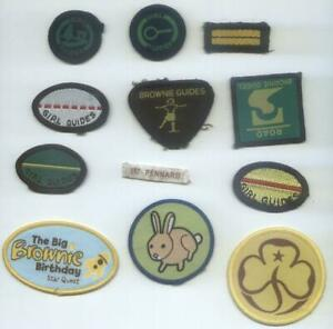 GROUP 12 DIFFERENT BROWNIE GUIDES BADGES (A)