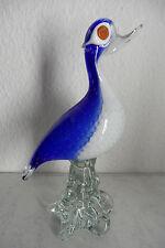 Große Murano Design Glasfigur ENTE mehrfarbig mit Luftblasen 50er-60er Jahre