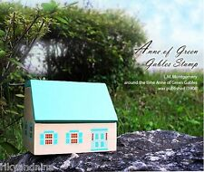 Anne of Green Gables Rubber Stamps Set avec maison en bois Boîte 17pc Craft STAMPS