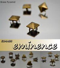 100 x EIMASS® 2188 Brass Bronze Copper Studs with Claws,Pyramid,Spike Cone,Star