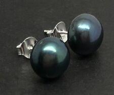 Freshwater pearl large 12mm Stud Earrings Solid Sterling Silver, new, UK seller.