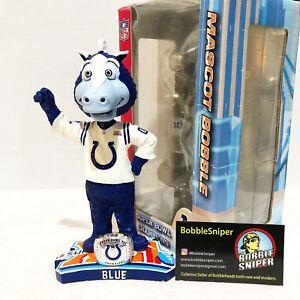 "BLUE Indianapolis Colts Mascot Super Bowl XLI ""Ring Base"" NFL Bobblehead"