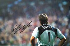 Gianluigi Buffon signed 12x8 Italy Juve photo Image D UACC Registered dealer COA