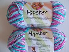 Premier Hipster bamboo rayon yarn, Peacock, lot of 2 (161 yds each)