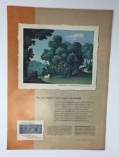 Original Print Ad 1950 DE BEERS Diamonds Sylvan Honeymoon Jean Hugo Art