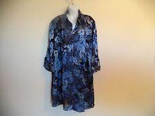 Women's Blue LE BOS Jumper Dress/ Vestido. 24W. 54% Nylon/ 46% Polyester. Plus.