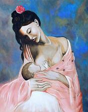 R562 Pablo Picasso Maternity Pregnancy  -Print Art Silk Poster