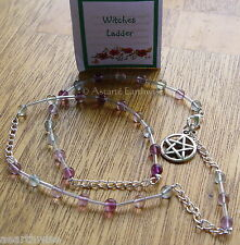 1 x FLUORITE GEMSTONE WITCHES' LADDER  Wicca Pagan Witch Goth