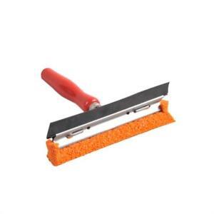 Scheibenwascher 14cm mit Holzgriff und Gummikante