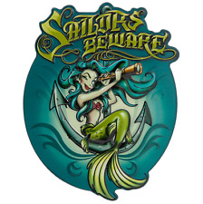 Disney Parks Pirates of the Caribbean Sailors Beware - Mermaid Plaque Blue Hair
