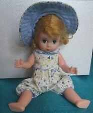 Madame Alexander Flowery Goodness blue eye blonde doll sunsuit sun hats display