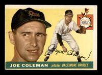 1955 Topps Set Break # 162 Joe Coleman EX *OBGcards*